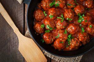 Gehaktballen in tomatensaus